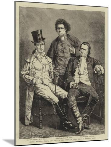 Messers Mathews, Phelps, and Toole in the Comedy of John Bull, a Portrait Group--Mounted Giclee Print
