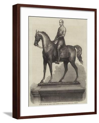 Statue of the Late Prince Consort Erected in Front of St George's Hall, Liverpool--Framed Art Print