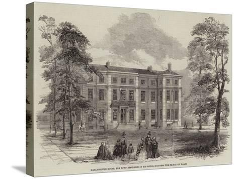 Marlborough House, the Town Residence of His Royal Highness the Prince of Wales--Stretched Canvas Print