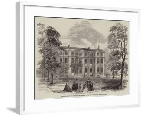 Marlborough House, the Town Residence of His Royal Highness the Prince of Wales--Framed Art Print