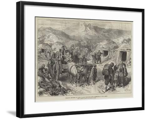Peasants Returning to their Village Near Kars after Withdrawal of the Armies--Framed Art Print