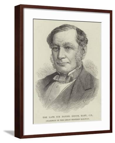 The Late Sir Daniel Googh, Baronet, Ce, Chairman of the Great Western Railway--Framed Art Print