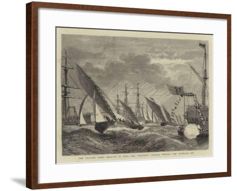 The Channel Fleet Regatta at Vigo, the Sultan'S Pinnace Winning the Admiral's Cup--Framed Art Print