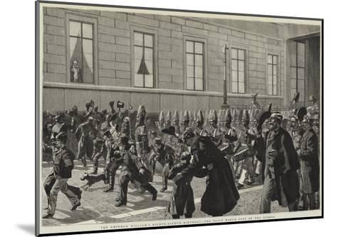 The Emperor William's Eighty-Eighth Birthday, the Daily March Past of the Guards--Mounted Giclee Print