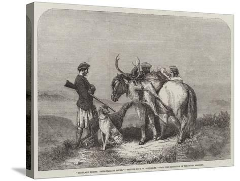 Highland Sports, Deer-Stalking Scene, from the Exhibition of the Royal Academy--Stretched Canvas Print