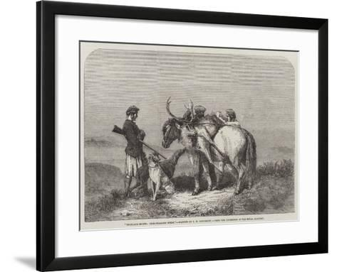 Highland Sports, Deer-Stalking Scene, from the Exhibition of the Royal Academy--Framed Art Print