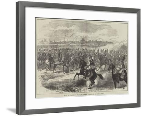 Review of Cuirassiers of the Guard at Berlin in Honour of the Shah of Persia--Framed Art Print