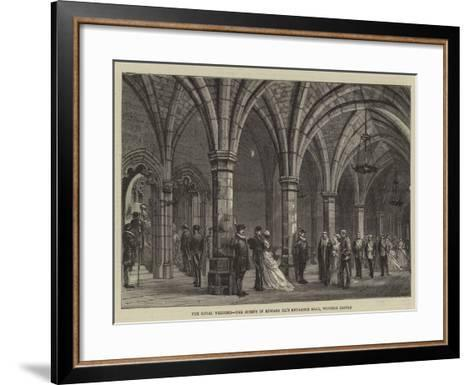 The Royal Wedding, the Guests in Edward Iii's Entrance Hall, Windsor Castle--Framed Art Print