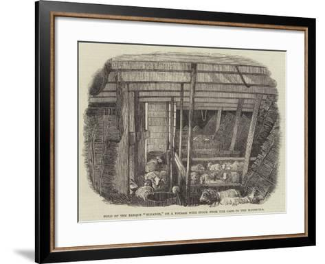Hold of the Barque Eleanor, on a Voyage with Stock from the Cape to the Mauritius--Framed Art Print