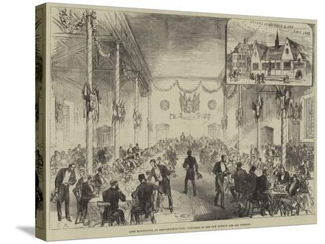 Lord Hartington at Newcastle-On-Tyne, Luncheon in the New Science and Art Schools--Stretched Canvas Print