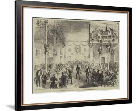 Lord Hartington at Newcastle-On-Tyne, Luncheon in the New Science and Art Schools--Framed Art Print