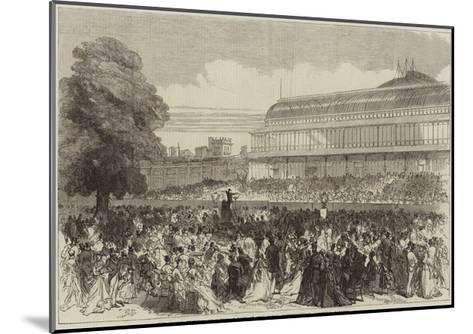 The Choral Festival on Saturday Last at the Royal Horticultural Society's Gardens--Mounted Giclee Print