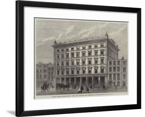 London Street Improvements, Lewis and Allenby's Silk Warehouse in Conduit-Street--Framed Art Print