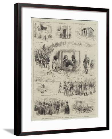 The Carlist War in Spain, Notes of a Railway Trip from Barcelona to Saragossa--Framed Art Print