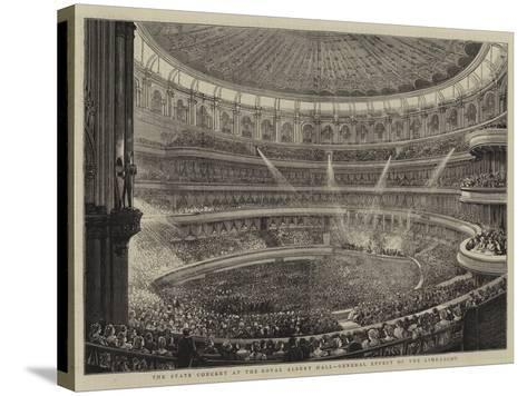 The State Concert at the Royal Albert Hall, General Effect of the Lime-Light--Stretched Canvas Print