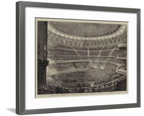 The State Concert at the Royal Albert Hall, General Effect of the Lime-Light--Framed Art Print