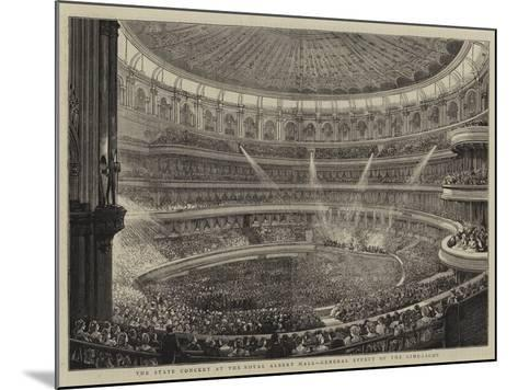The State Concert at the Royal Albert Hall, General Effect of the Lime-Light--Mounted Giclee Print