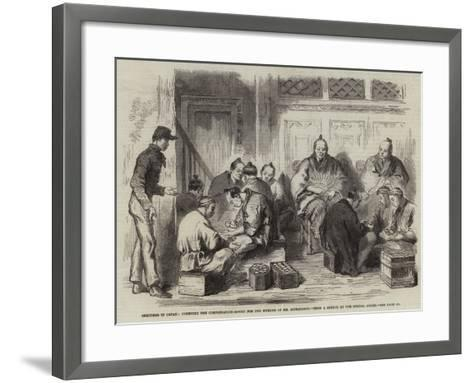 Sketches in Japan, Counting the Compensation-Money for the Murder of Mr Richardson--Framed Art Print