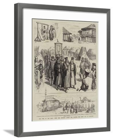 The War in the East, with the Russians across the Danube, the First Day at Matchin--Framed Art Print