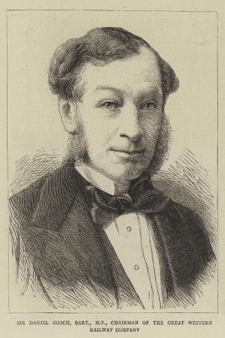 Sir Daniel Gooch, Baronet, Mp, Chairman of the Great Western Railway Company--Stretched Canvas Print