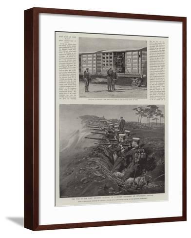 The War in the East, Japanese Infantry at a Review Defending an Intrenched Position--Framed Art Print