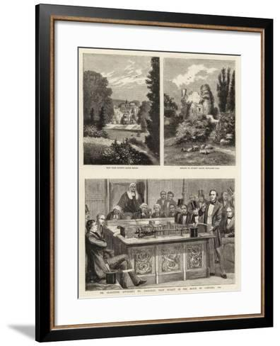 Mr Gladstone Attacking Mr Disraeli's First Budget in the House of Commons, 1852--Framed Art Print