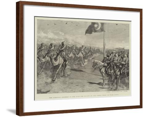 The Khedive's Journey Up the Nile, the Review of the Camel Corps at Wady Halfa--Framed Art Print