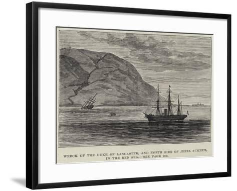 Wreck of the Duke of Lancaster, and North Side of Jebel Sukhur, in the Red Sea--Framed Art Print