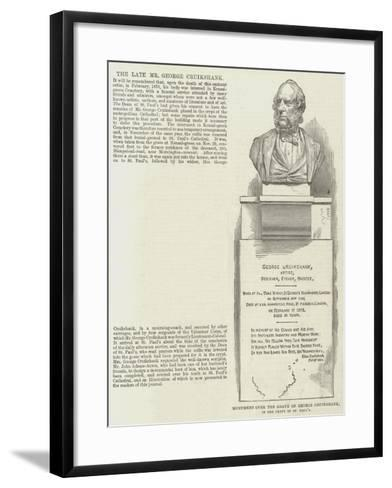 Monument over the Grave of George Cruikshank, in the Crypt of St Paul's--Framed Art Print