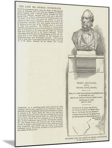 Monument over the Grave of George Cruikshank, in the Crypt of St Paul's--Mounted Giclee Print