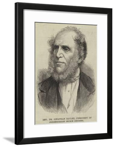 Reverend Dr Jonathan Bayley, President of Swedenborgian Church Congress--Framed Art Print