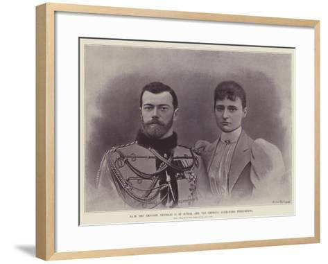 Him the Emperor Nicholas II of Russia and the Empress Alexandra Feodorovna--Framed Art Print