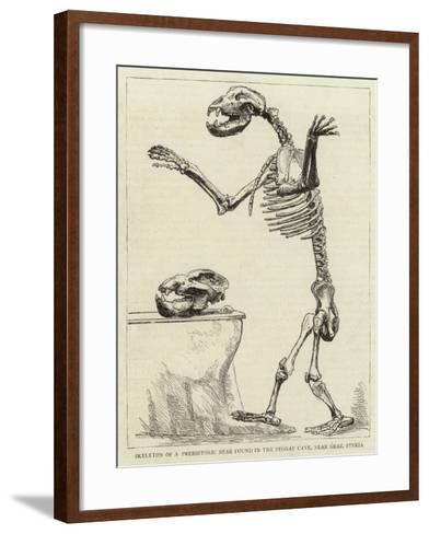 Skeleton of a Prehistoric Bear Found in the Peggau Cave, Near Graz, Styria--Framed Art Print