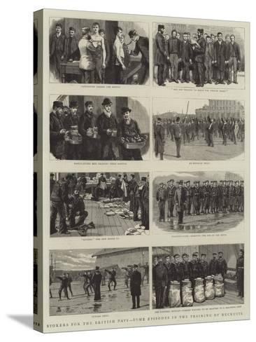 Stokers for the British Navy, Some Episodes in the Training of Recruits--Stretched Canvas Print