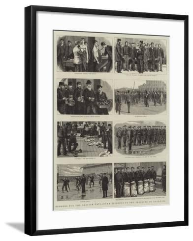 Stokers for the British Navy, Some Episodes in the Training of Recruits--Framed Art Print