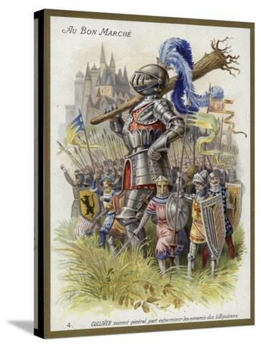 Gulliver, Appointed General, Sets Out to Exterminate the Enemies of the Lilliputians--Stretched Canvas Print