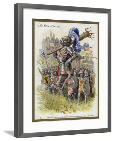 Gulliver, Appointed General, Sets Out to Exterminate the Enemies of the Lilliputians--Framed Art Print