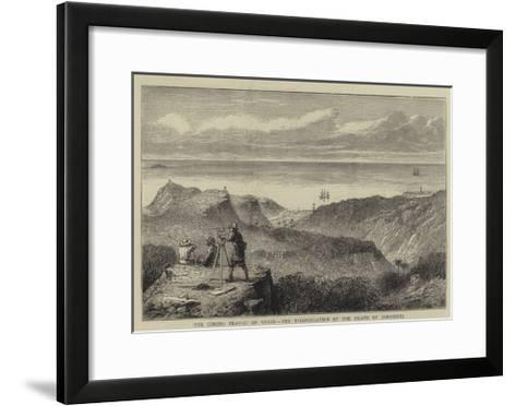 The Coming Transit of Venus, the Triangulation of the Island of Rodriguez--Framed Art Print