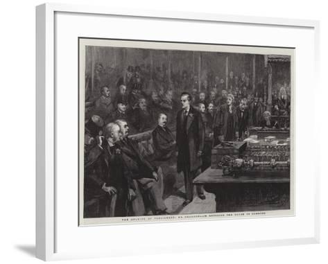 The Opening of Parliament, Mr Chamberlain Entering the House of Commons--Framed Art Print
