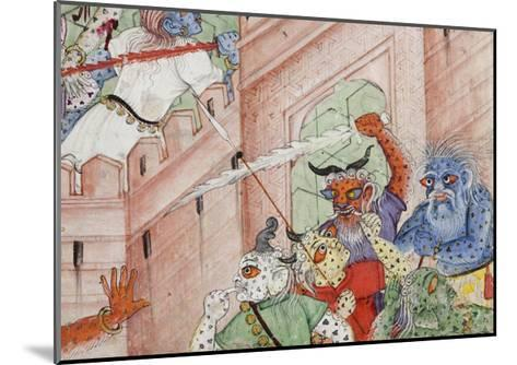 Detail from Krishna Cleaves the Demon Narakasura with His Discus, C.1585-90--Mounted Giclee Print