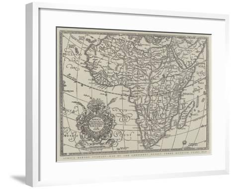 Africa before Stanley, Map of the Continent Nearly Three Hundred Years Old--Framed Art Print
