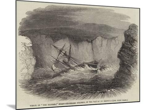 Wreck of The Restrel, Screw-Propeller Steamer, in the Bay of St Shott'S--Mounted Giclee Print