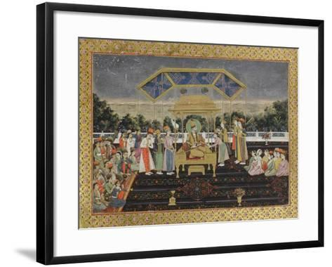 Nadir Shah on the Peacock Throne after His Defeat of Muhammad Shah, C.1850--Framed Art Print
