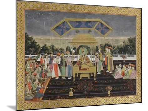 Nadir Shah on the Peacock Throne after His Defeat of Muhammad Shah, C.1850--Mounted Giclee Print
