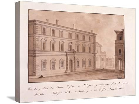 View of the Palace of Prince Eugene in Bologna, Engraved by S.A.I. after Busatti, 1814--Stretched Canvas Print