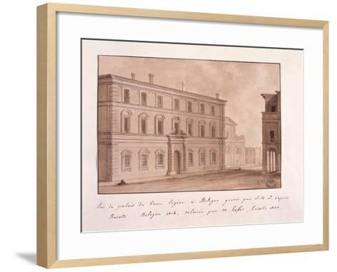 View of the Palace of Prince Eugene in Bologna, Engraved by S.A.I. after Busatti, 1814--Framed Art Print