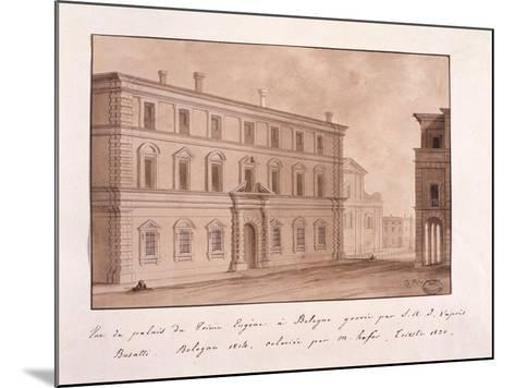 View of the Palace of Prince Eugene in Bologna, Engraved by S.A.I. after Busatti, 1814--Mounted Giclee Print