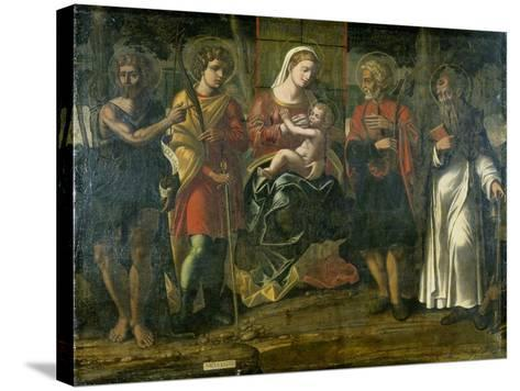 Madonna and Child with John the Baptist, Anthony and Other Saints, 1534--Stretched Canvas Print