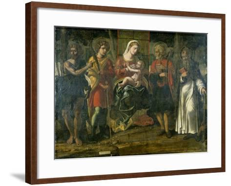 Madonna and Child with John the Baptist, Anthony and Other Saints, 1534--Framed Art Print