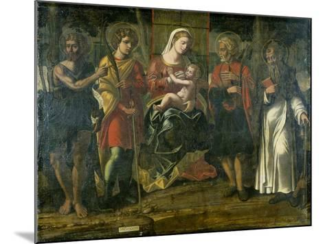 Madonna and Child with John the Baptist, Anthony and Other Saints, 1534--Mounted Giclee Print